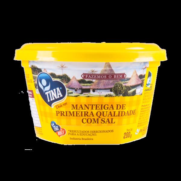 MANTEIGA DE PRIMEIRA QUALIDADE COM SAL 200G - TINA